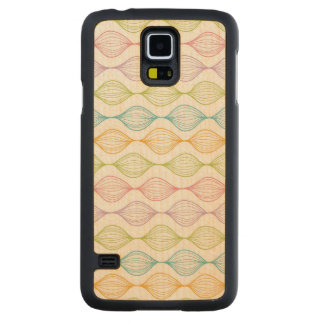 Colorful horizontal ogee pattern maple galaxy s5 case