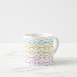 Colorful horizontal ogee pattern espresso cup