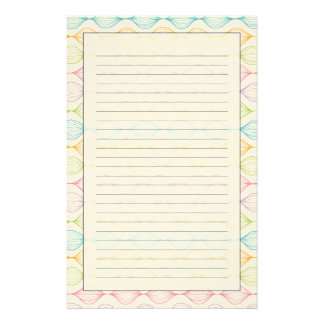 Colorful horizontal ogee pattern stationery