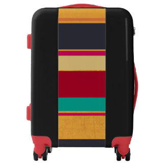 Colorful Horizontal Stripes Luggage