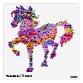Colorful Horse A1 Wall Decal