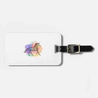 Colorful Horse Gift Horse Lovers Racing Riding Luggage Tag