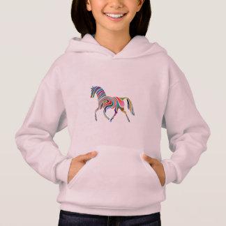 colorful horse hoodie