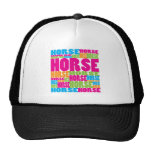 Colorful Horse Mesh Hats