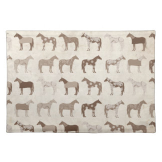Colorful Horse Pattern Cloth Placemat
