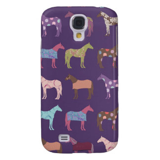 Colorful Horse Pattern Galaxy S4 Cover