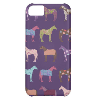 Colorful Horse Pattern iPhone 5C Cover