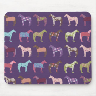 Colorful Horse Pattern Mouse Pad