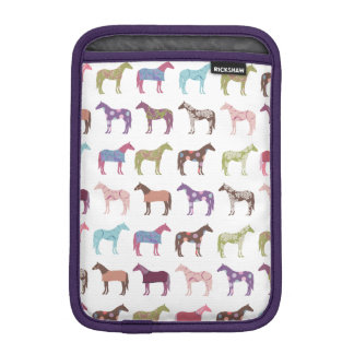 Colorful Horse Pattern Sleeve For iPad Mini