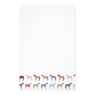 Colorful Horse Pattern Stationery