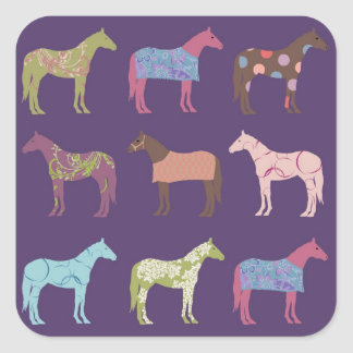 Colorful Horse Pattern Stickers