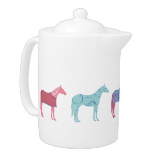 Colorful Horse Pattern Teapot