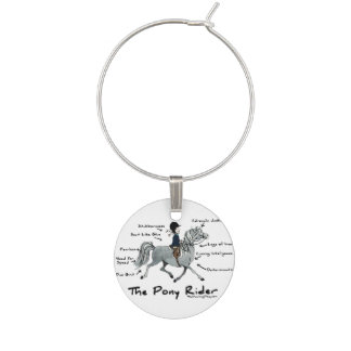 Colorful Horse Pattern Wine Glass Charm