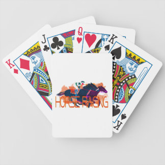 Colorful Horse Racing Bicycle Poker Cards