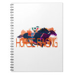 Colorful Horse Racing Note Book