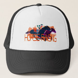 Colorful Horse Racing Trucker Hat