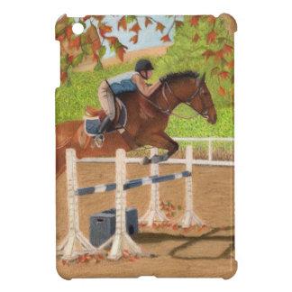 Colorful Horse & Rider Jumping iPad Mini Cover