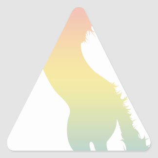 Colorful Horse Triangle Sticker