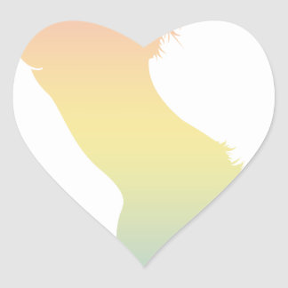 Colorful Horse Heart Sticker