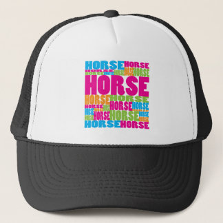 Colorful Horse Trucker Hat