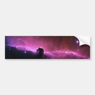 Colorful horsehead nebula bumper sticker