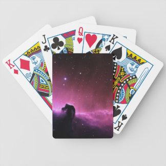 Colorful horsehead nebula bicycle card deck