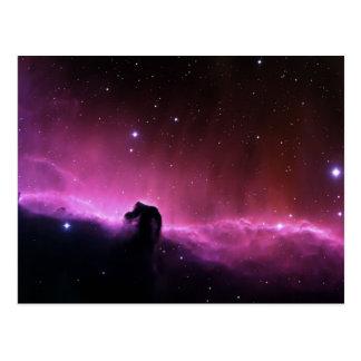 Colorful horsehead nebula postcard