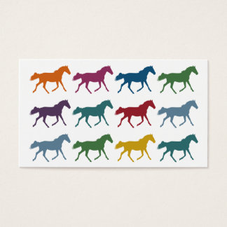 Colorful Horses Business Cards