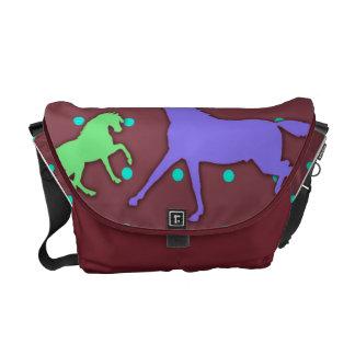 Colorful Horses Messenger Bag