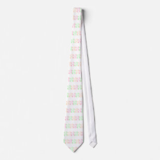 Colorful horses neck tie