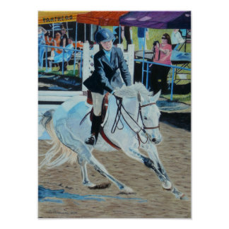Colorful Horseshow Art Poster