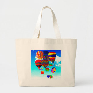 Colorful hot-Air ballonso Large Tote Bag