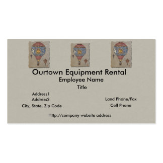 Colorful Hot Air Balloon Double-Sided Standard Business Cards (Pack Of 100)