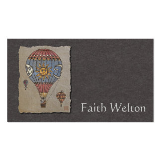 Colorful Hot Air Balloon Business Card