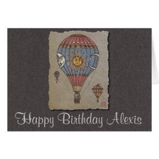 Colorful Hot Air Balloon Greeting Card