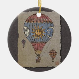 Colorful Hot Air Balloon Ceramic Ornament