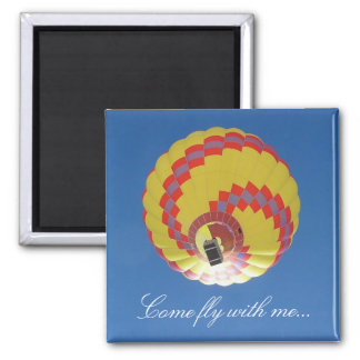 Colorful Hot-Air Balloon in a Blue Sky Magnet