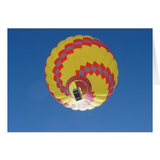 Colorful Hot-Air Balloon in Blue Sky Card