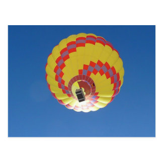 Colorful Hot-Air Balloon in Blue Sky Postcard