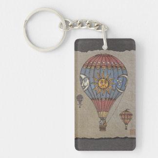 Colorful Hot Air Balloon Keychain