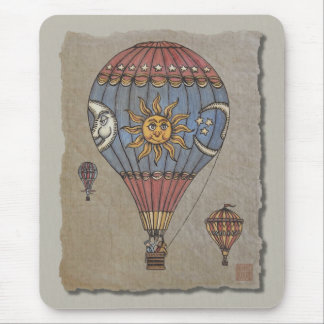 Colorful Hot Air Balloon Mouse Pad