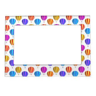 Colorful Hot Air Balloon Pattern Magnetic Photo Frame