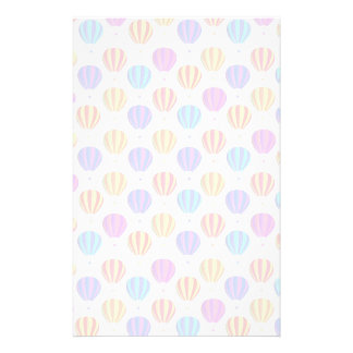 Colorful Hot Air Balloon Pattern Stationery