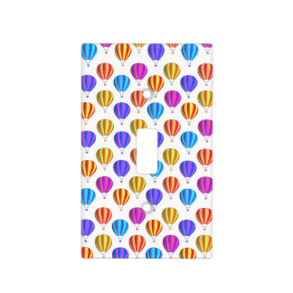 Colorful Hot Air Balloon Pattern Light Switch Covers