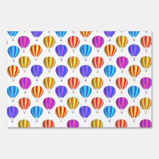 Colorful Hot Air Balloon Pattern Yard Sign