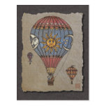 Colorful Hot Air Balloon Post Cards