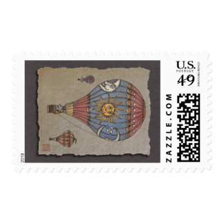 Colorful Hot Air Balloon Stamps