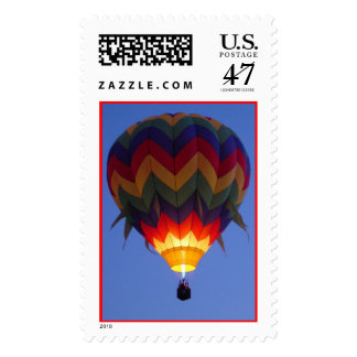 Colorful Hot Air Balloon Postage Stamp