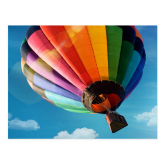 Colorful Hot Air Balloon Postcard