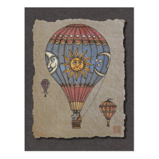 Colorful Hot Air Balloon Postcard